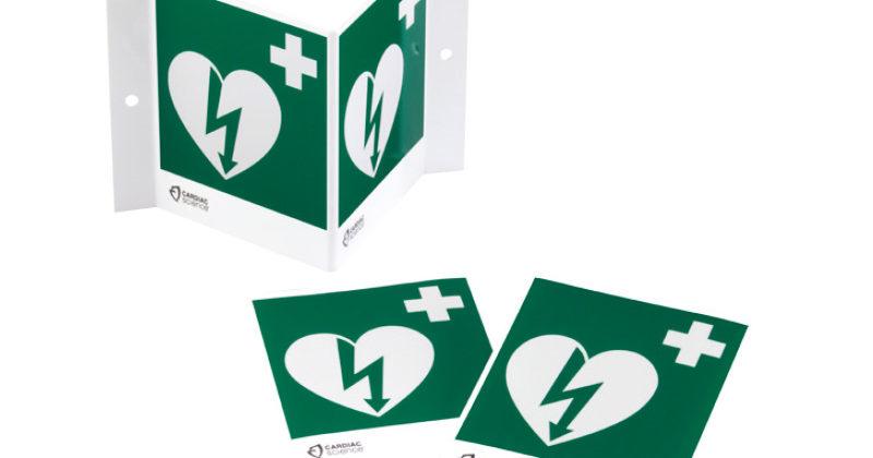 AED-skylt 3D ILCOR
